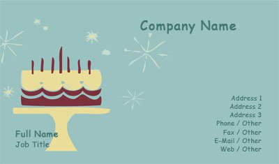 Cake Illustration Business Card Template